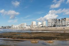 Bord de mer de Sables d'Olonne, France photographie stock