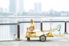 Bord de mer Singapour de régions boisées photos libres de droits
