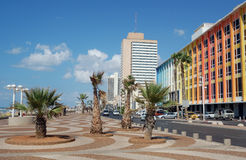 Bord de mer Téléphone-Avive Images libres de droits