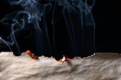 Bord de papier brûlé Photos libres de droits