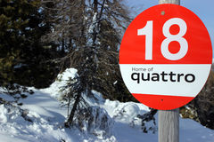 Bord de piste de ski Photographie stock libre de droits