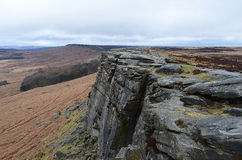 Bord de Stanage, Hathersage Photos stock