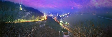 Bord de vue de nuit Photographie stock libre de droits