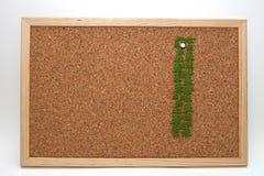 Bord del corcho Imagen de archivo libre de regalías