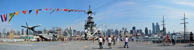 An Bord der USS Wespe Stockbild