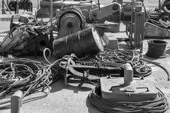 Bord des alten Baggers Stockfotografie