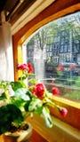 An Bord des Hausboot-Museums in Amsterdam lizenzfreie stockfotografie