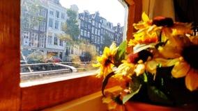 An Bord des Hausboot-Museums in Amsterdam lizenzfreies stockfoto