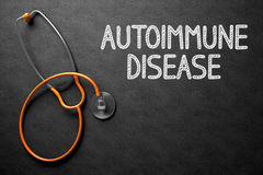 Bord met Auto-immuun Ziekteconcept 3D Illustratie Stock Afbeeldingen