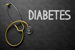 Bord met Diabetes 3D Illustratie Royalty-vrije Stock Afbeelding