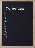 Bord met een punt om lijst te doen Stock Afbeelding