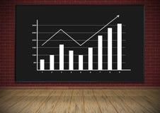 Bord met grafiek Royalty-vrije Stock Afbeeldingen