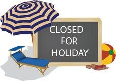 Bord met het gesloten schrijven voor vakantie vector illustratie