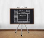 Bord met malplaatjewebsite Stock Afbeeldingen