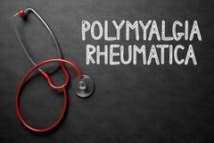 Bord met Polymyalgia Rheumatica 3D Illustratie Stock Fotografie