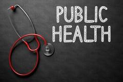 Bord met Volksgezondheidsconcept 3D Illustratie Stock Foto