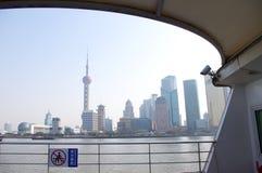 An Bord Shanghai sehen Stockfotos