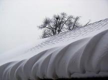 Bord tourbillonné de neige Photographie stock libre de droits