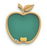 Bord van elementen in de vorm van appelpictogram dat wordt gemaakt Royalty-vrije Stock Afbeeldingen