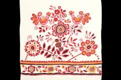 A borda bordada de uma toalha Imagem de Stock Royalty Free