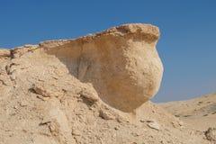 Borda com globo embaixo no deserto Imagem de Stock Royalty Free