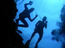 A borda da água Foto de Stock