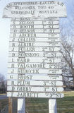 A borda da estrada assina dentro Springdale, TA Imagens de Stock Royalty Free