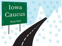 A borda da estrada do comitê de Iowa ilustrou o cartaz imagem de stock royalty free