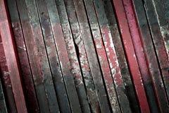 Borda da madeira velha usada como o fundo Fotografia de Stock Royalty Free