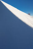 A borda da sombra e luz no monte Fotografia de Stock