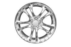 Borda de alumínio da roda do carro imagens de stock royalty free
