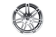 Borda de alumínio da roda do carro fotografia de stock royalty free