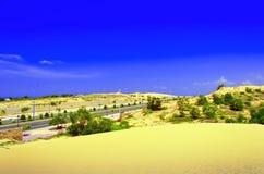 Borda de dunas de areia. Fotografia de Stock