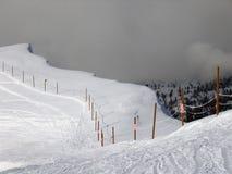Borda do esqui na estância de esqui de Targhee Fotografia de Stock Royalty Free