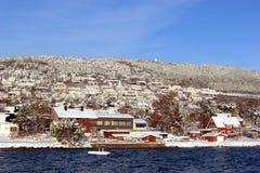 Borda do Fjord fotografia de stock