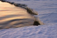 A borda do gelo. Fotografia de Stock