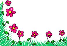 Borda floral ilustração stock