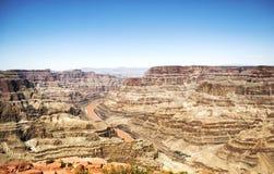 Borda ocidental de Grand Canyon - Eagle Point, dia ensolarado - o Arizona, AZ Imagens de Stock