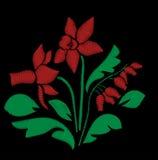 Bordado da rosa do vermelho Fotografia de Stock Royalty Free