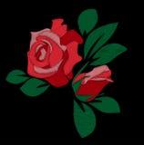 Bordado da rosa do vermelho Imagem de Stock Royalty Free