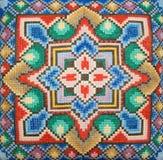 bordado de la Cruz-puntada Imagen de archivo libre de regalías