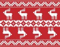 Bordado de la Feliz Navidad stock de ilustración