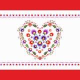 Bordado de la gente del corazón ilustración del vector