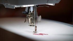 Bordado de la máquina de coser almacen de video