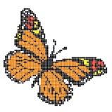 Bordado de la mariposa ilustración del vector