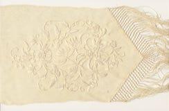 bordado de la seda 1800's Imágenes de archivo libres de regalías