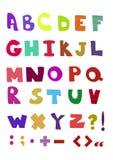 Bordado decorativo da textura do alfabeto Imagens de Stock
