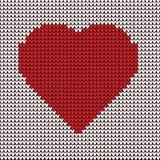 Bordado del ejemplo del corazón en el modelo de la tela - vector libre illustration