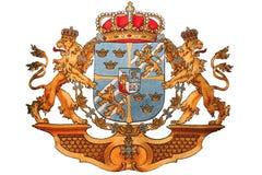 Bordado del emblema nacional de Luxemburgo Imagen de archivo libre de regalías