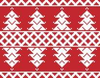 Bordado do Feliz Natal Imagens de Stock